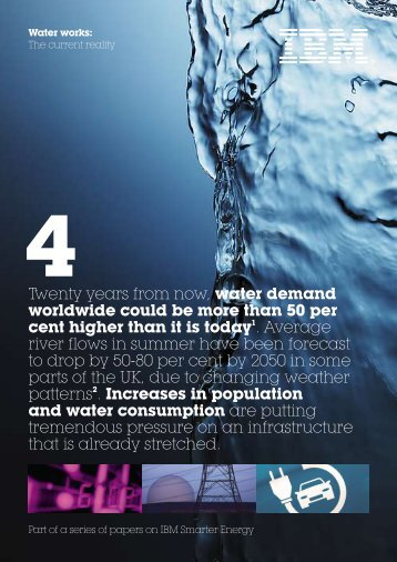 Twenty years from now, water demand worldwide could be more - IBM