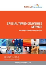 SPECIAL TIMED DELIVERIES SERVICE - Royale International Group