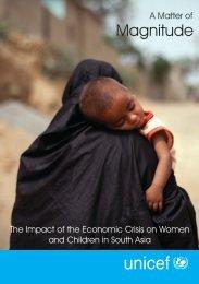 UNICEF ImpactSouthAsiaWomenandChildren 2009.pdf - Global Pulse