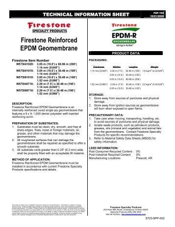 Firestone Reinforced EPDM Geomembrane - Firestone Specialty ...