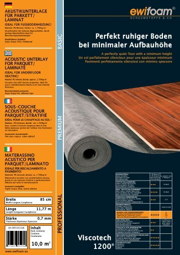 10,0 m2 - ewifoam-Schaumstoffe & Co,Trittschalldämmung ...