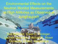 Environmental effects on neutron monitor measurements at high ...