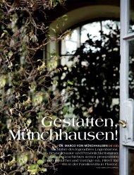 Magazin First - Dr. Marco von Münchhausen