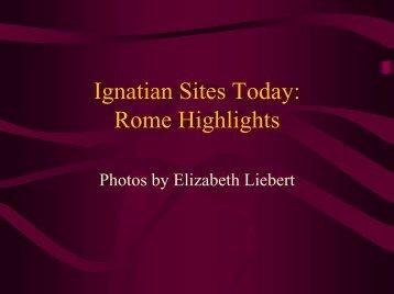 Ignatian Sites Today: Rome