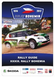 RALLY GUIDE XXXIX. RALLY BOHEMIA