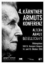 4. Kärntner Armuts-Konferenz - ifeb - Universität Klagenfurt