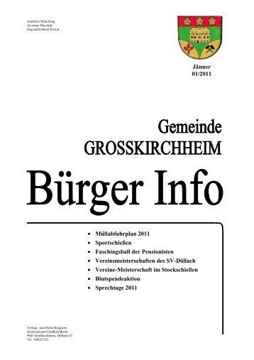 Jänner 2011 - Gemeinde Großkirchheim