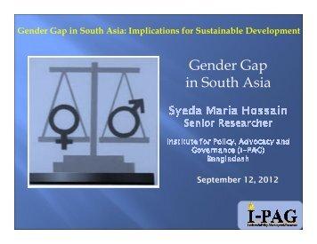 Gender Gap in South Asia