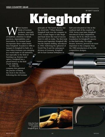 A History of Innovation - Krieghoff