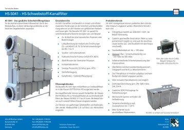 HS-S041 - HS-Schwebstoff-Kanalfilter - HS Luftfilterbau GmbH