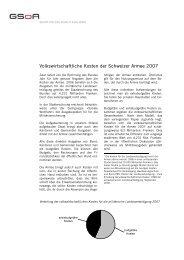 Volkswirtschaftliche Kosten der Schweizer Armee 2007