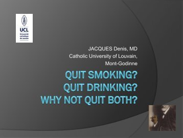 Quit smoking? Quit drinking? Why not quit both? - Vad.be