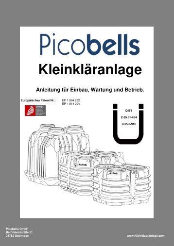 Anleitung für Einbau, Wartung und Betrieb - Kleinkläranlage von