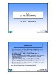 Das Unternehmen SAP AG Teil I - Lehrstuhl für Wirtschaftsinformatik