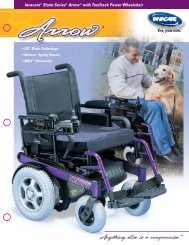 Invacare® Storm Series® Arrow® with TrueTrack Power Wheelchair