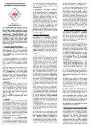 Allgemeine Hinweise und Reisebedingungen - St. Anna