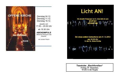 Licht AN! Licht AN! - St. Anna