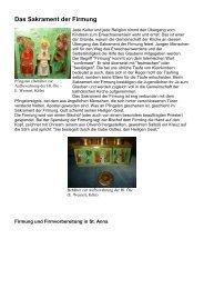 Das Sakrament der Firmung - St. Anna