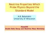 Neutrino Properties Beyond the Standard Model - US-Japan ...