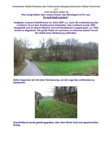 Lichtloch 15 - Arbeitskreis Wetter/Herdecke