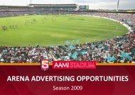 arena advertising properties - sanfl