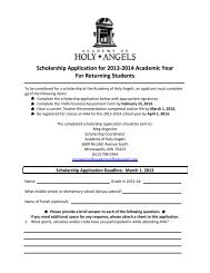 Scholarship Application for 2013-2014 Academic Year For ...