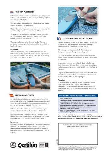 Pour filtre cartouche bleu piscines for Club piscine catalogue