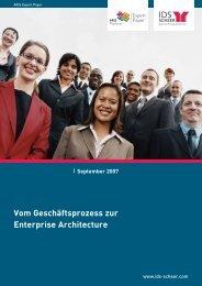 Vom Geschäftsprozess zur Enterprise Architecture - ARIS User Forum