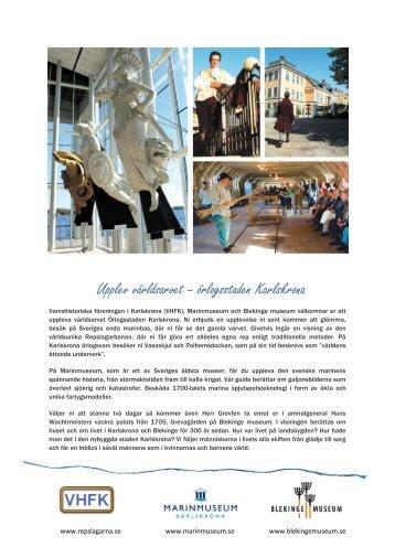 Upplev världsarvet – örlogsstaden Karlskrona - Blekinge museum
