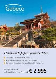 Höhepunkte Japans privat erleben - Gebeco GmbH & Co KG