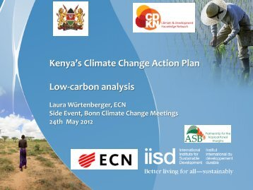 2. Highlights of the low-‐carbon scenario analysis - The REDD Desk