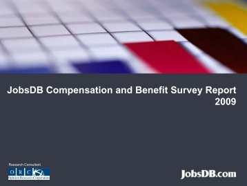 JobsDB Compensation and Benefit Survey JobsDB Compensation ...