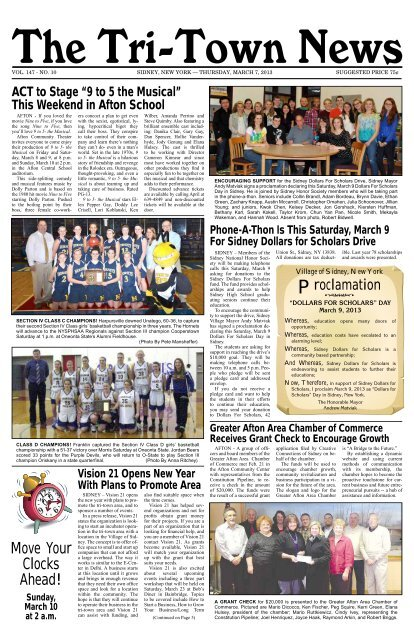 march 7 2013 the tri town news march 7 2013 the tri town news