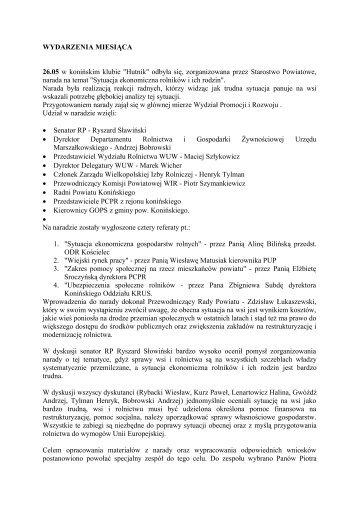 Biuletyn Informacyjny Powiatu Konińskiego nr 6(11) - Powiat koniński