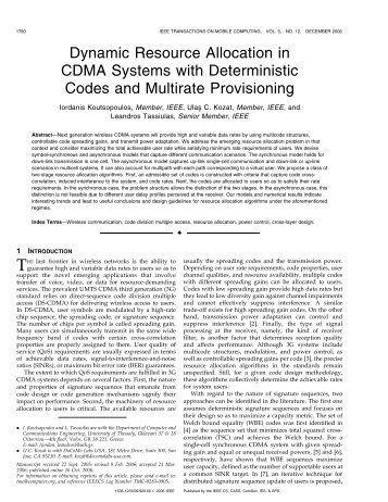 Dynamic Resource Allocation in CDMA Systems with ... - IEEE Xplore