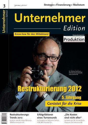 Unternehmer Edition - Dr. Wieselhuber & Partner GmbH ...