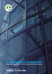 Sustainability of Constructions Integrated Approach to Life-time ...