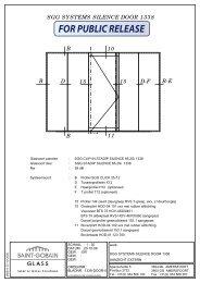 SGG SYSTEMS SILENCE DOOR 1338 intern gebruik - SGG-IGS