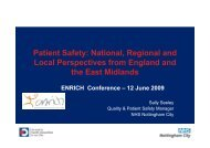 Patient Safety: National, Regional and Local Perspectives from ...