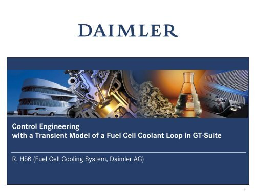 Control Engineering with a Transient Model of a Fuel Cell Coolant ...