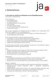 2. Wahlkampfthemen - SP Stadt Zürich
