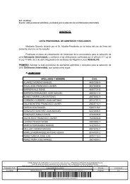 Lista provisional admitidos y excluidos