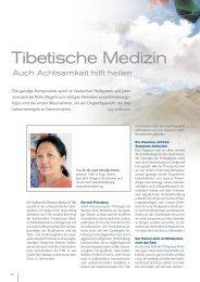 Auch Achtsamkeit hilft heilen - Traditionelle Tibetische Medizin