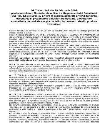 ORDIN nr. 142 din 29 februarie 2008 pentru aprobarea ... - MADR