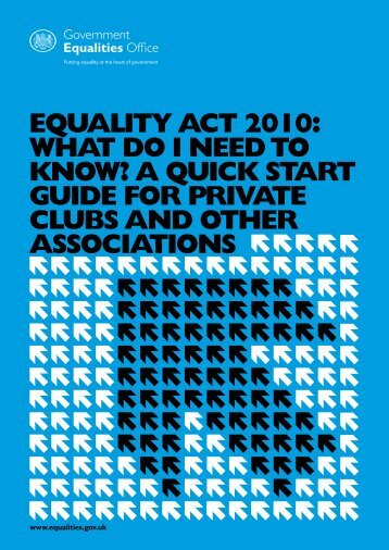 Equality Act 2010: What do I need to know? A quick start ... - Gov.uk