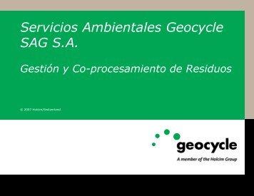 Servicios Ambientales Geocycle SAG S.A. Gestión y Co ...