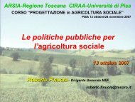 Le politiche pubbliche per l'agricoltura sociale