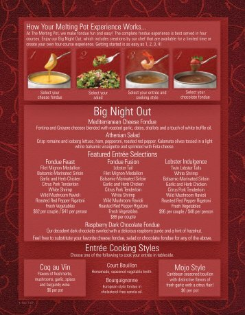 Big Night Out - Your Restaurant Connection