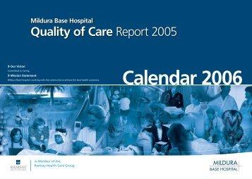 Quality of Care Report 2005 - Mildura Base Hospital