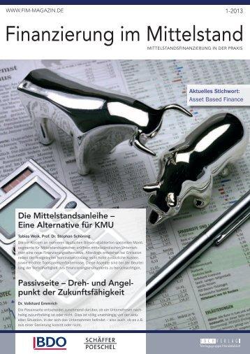 Finanzierung im Mittelstand - Dr. Wieselhuber & Partner GmbH ...